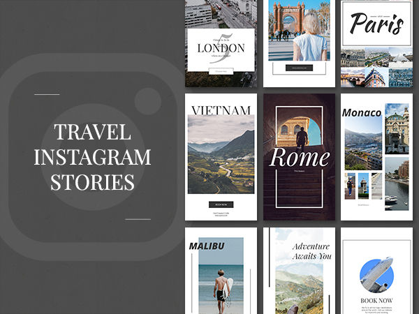 Social stories instagram facebook after effects templates