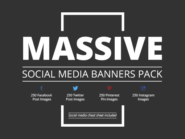 Massive Social Media Banners Pack
